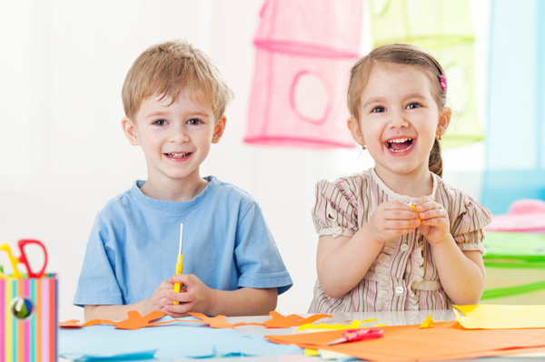 Image of children doing crafts