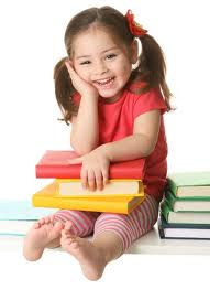 Image of girl holding books