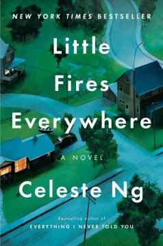 Book title  Little Fires Everywhere by Celeste Ng