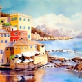 """Mediterranean Moment"", watercolour painting by Donna Bonin"