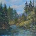 """""Burnt River"",oil painting by Poul Thrane"